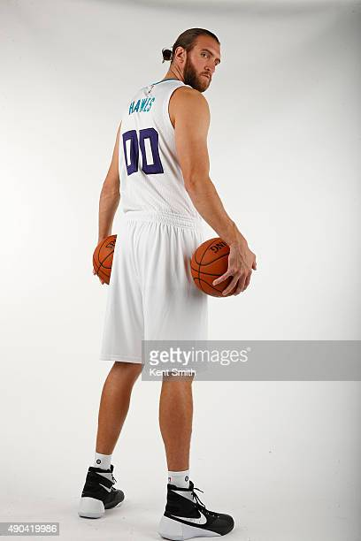 Spencer Hawes of the Charlotte Hornets poses for media day at the Time Warner Cable Arena on February 4 2015 in Charlotte North Carolina NOTE TO USER...