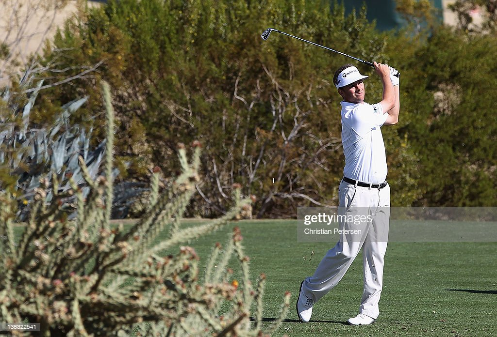 <a gi-track='captionPersonalityLinkClicked' href=/galleries/search?phrase=Spencer+Levin&family=editorial&specificpeople=2145900 ng-click='$event.stopPropagation()'>Spencer Levin</a> hits a tee shot on the 12th hole during the final round of the Waste Management Phoenix Open at TPC Scottsdale on February 5, 2012 in Scottsdale, Arizona.