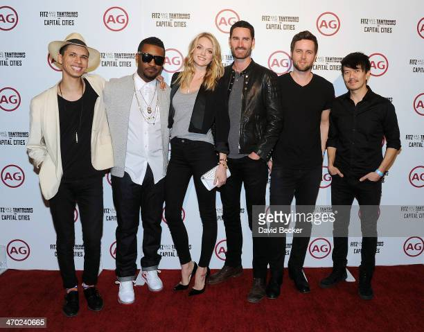 Spencer Ludwig and Channing Cook Holmes of Capital Cities model Lindsay Ellingson and Ryan Merchant Nick Merwin and Manny Quintero of Capital Cities...