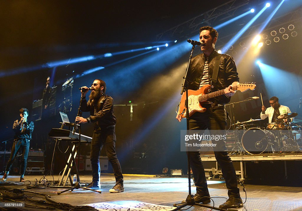Spencer Ludwig, Sebu Simonian, and Ryan Merchant of Capital Cities perform as part of Radio 94.7's Electric Christmas at Sleep Train Arena on December 4, 2013 in Sacramento, California.