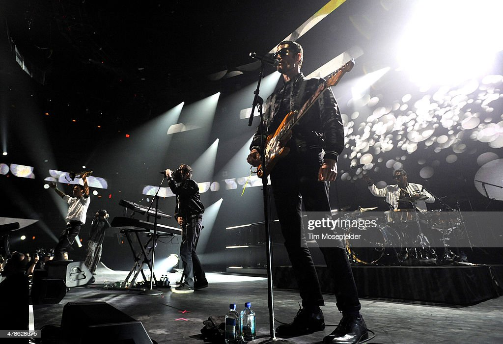 Spencer Ludwig Sebu Simonian and Ryan Merchant of Capital Cities perform as part of the iTunes Festival At SXSW at Moody Theater on March 13 2014 in...