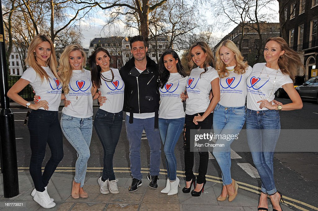 Spencer Matthews (C) and <a gi-track='captionPersonalityLinkClicked' href=/galleries/search?phrase=Funda+Onal&family=editorial&specificpeople=7799262 ng-click='$event.stopPropagation()'>Funda Onal</a> (right of C) attend fundraiser for 'The Brompton Fountain on April 29, 2013 in London, England.