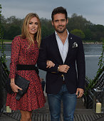 Spencer Matthews and Guest attend the launch of 'The Explorer Collection' by Taylor Morris Eyewear at The Serpentine Lido Terrace Hyde Park on May 11...
