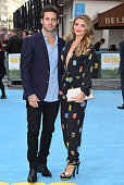 Spencer Matthews and Lauren Hutton attend the European Premiere of 'Entourage' at Vue West End on June 9 2015 in London England