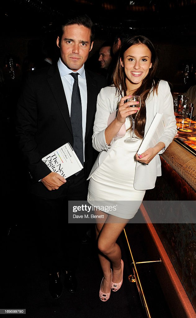 Spencer Matthews (L) and Lucy Watson attend the launch of 'The New Digital Age: Reshaping The Future Of People, Nations and Business' by Eric Schmidt and Jared Cohen, hosted by Jamie Reuben, at Loulou's on May 28, 2013 in London, England.