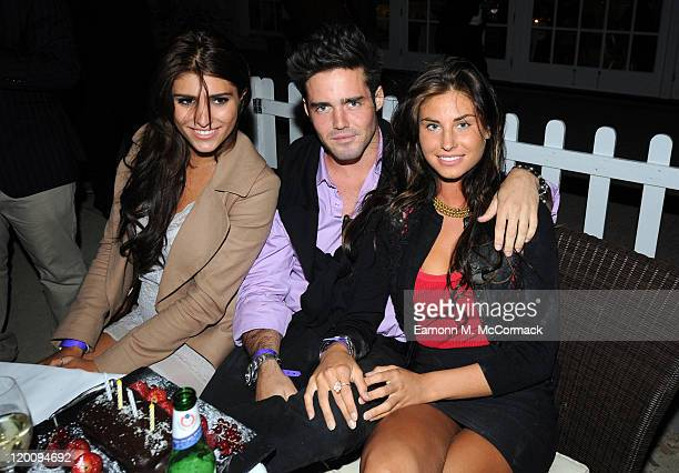 Spencer Matthews and reality tv stars from 'Made In Chelsea' party at Concours D'Elegance at The Hurlingham Club on July 29 2011 in London England