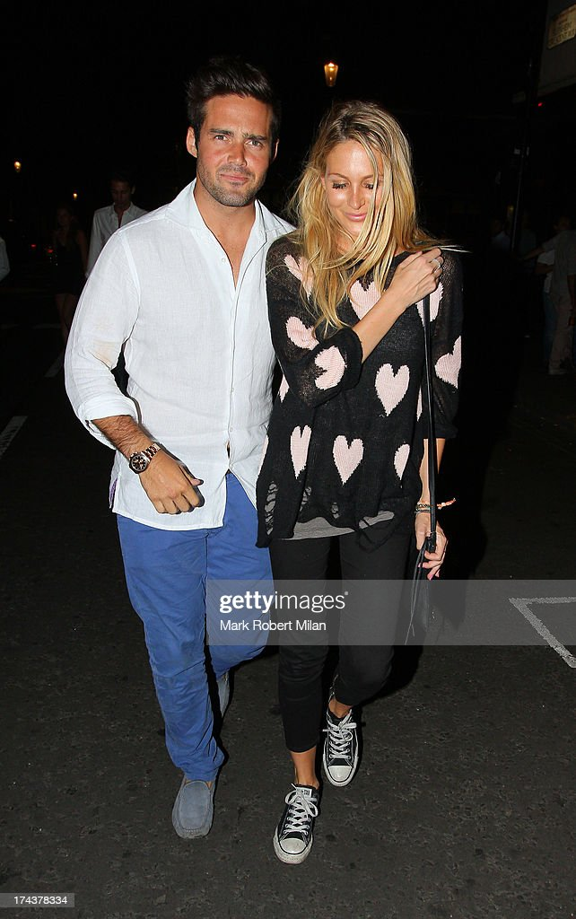 Spencer Matthews and Stephanie Pratt at E&O restaurant on July 24, 2013 in London, England.