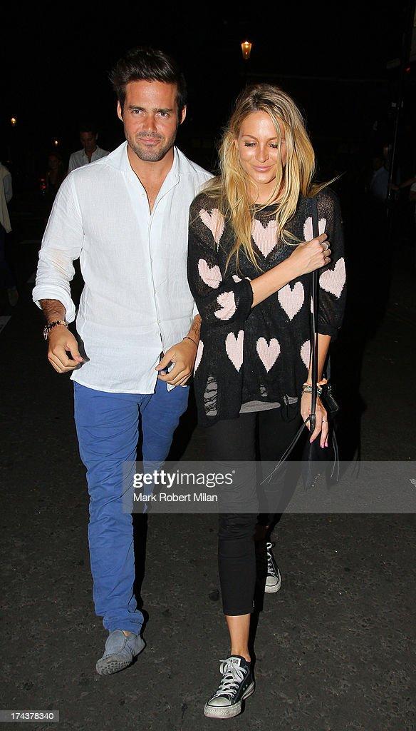 Spencer Matthews and Stephanie Pratt at E&O restaurant on July 24, 2013 in London, England.