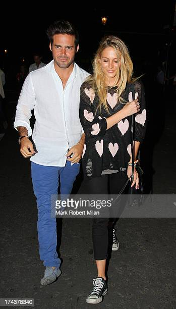 Spencer Matthews and Stephanie Pratt at EO restaurant on July 24 2013 in London England