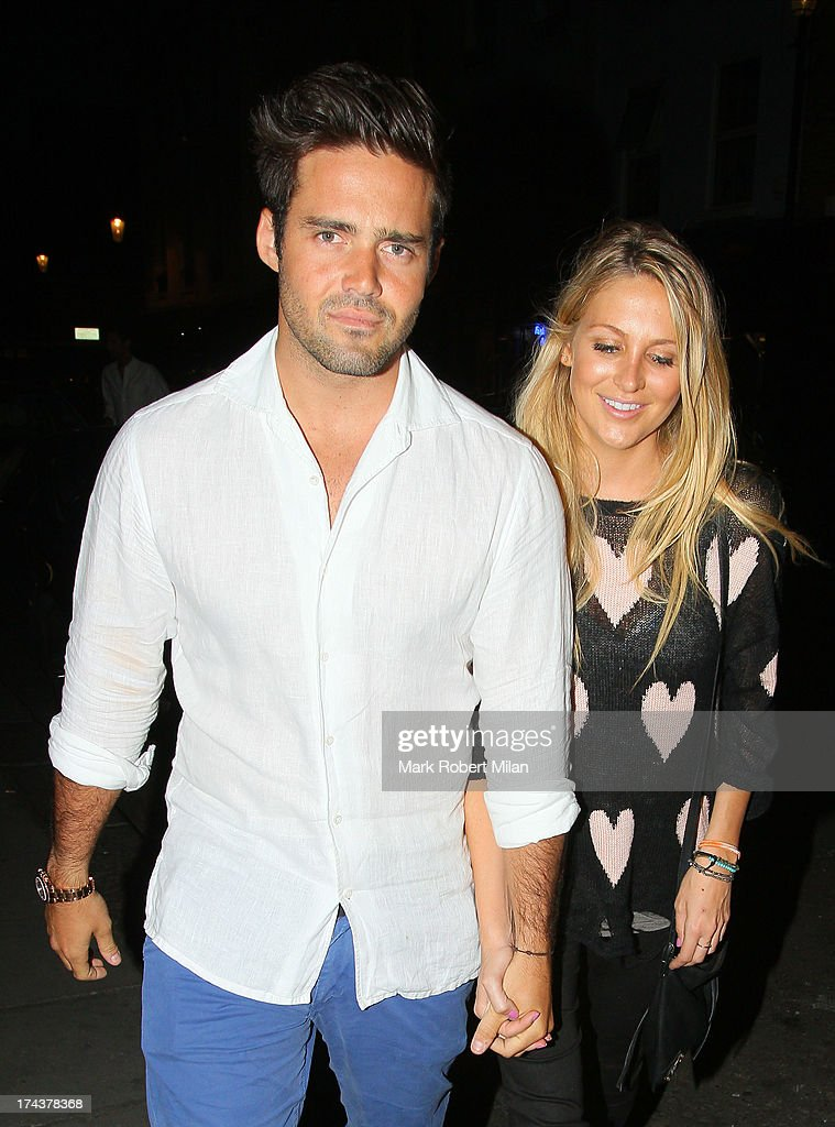 <a gi-track='captionPersonalityLinkClicked' href=/galleries/search?phrase=Spencer+Matthews&family=editorial&specificpeople=7799257 ng-click='$event.stopPropagation()'>Spencer Matthews</a> and <a gi-track='captionPersonalityLinkClicked' href=/galleries/search?phrase=Stephanie+Pratt&family=editorial&specificpeople=5134159 ng-click='$event.stopPropagation()'>Stephanie Pratt</a> at E&O restaurant on July 24, 2013 in London, England.