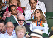 Spencer Matthews attends day seven of the Wimbledon Tennis Championships at Wimbledon on July 6 2015 in London England