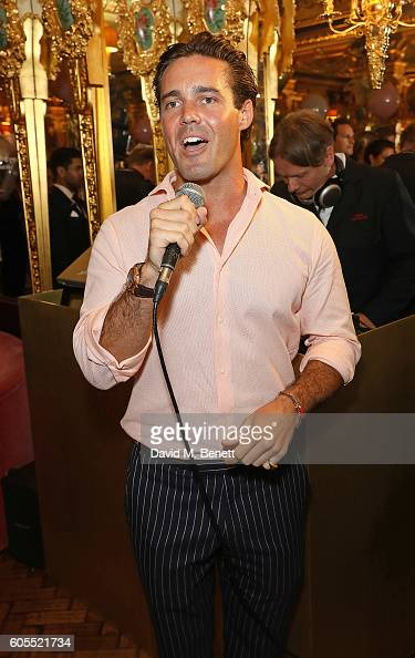 Spencer Matthews attends Sabrina Ho's birthday party at Oscar Wilde Bar Hotel Cafe Royal on September 12 2016 in London England