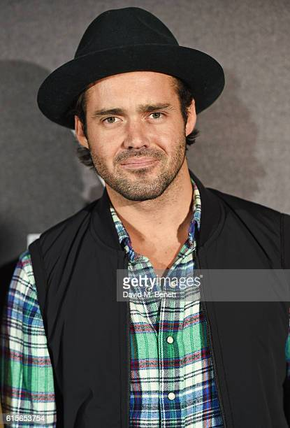 Spencer Matthews attends the Global VIP Reveal of the new Triumph Bonneville Bobber on October 19 2016 in London England