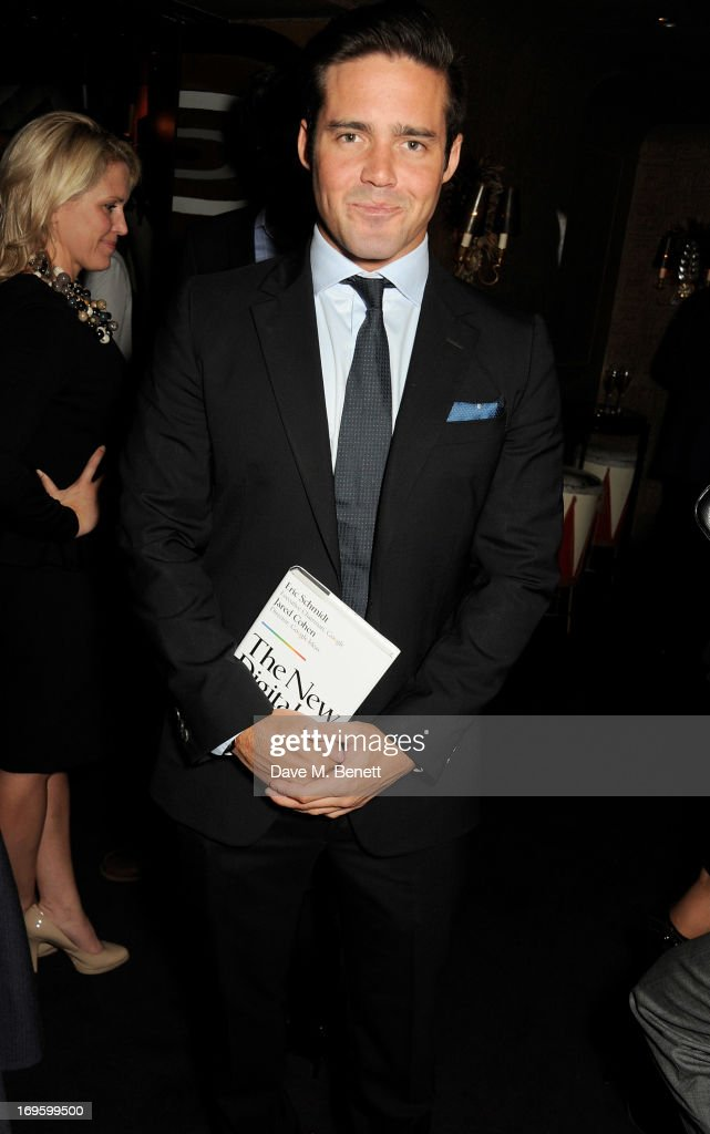 <a gi-track='captionPersonalityLinkClicked' href=/galleries/search?phrase=Spencer+Matthews&family=editorial&specificpeople=7799257 ng-click='$event.stopPropagation()'>Spencer Matthews</a> attends the launch of 'The New Digital Age: Reshaping The Future Of People, Nations and Business' by Eric Schmidt and Jared Cohen, hosted by Jamie Reuben, at Loulou's on May 28, 2013 in London, England.