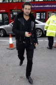 Spencer Matthews is pictured arriving at Somerset House during London Fashion Week on February 15 2014 in London England
