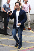 Spencer Matthews seen leaving the ITV Studios after an appearance on 'Loose Women' on July 18 2016 in London England