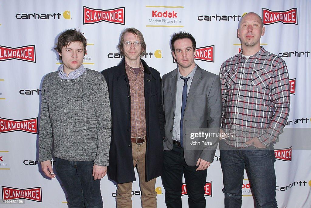 Spencer McCall, Mars Elliot, Uriah Findley and Jeff Hull attend the Slamdance Film Festival at Slamdance Public House on January 20, 2013 in Park City, Utah.