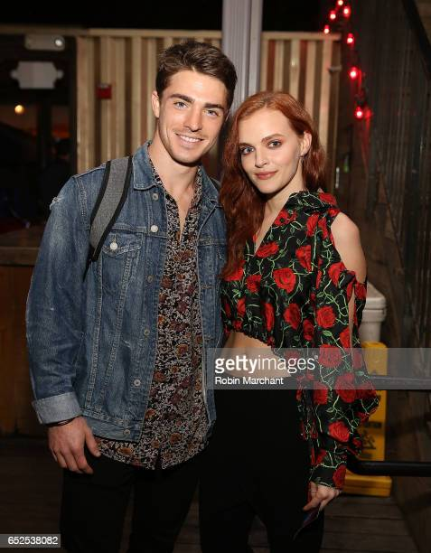 Spencer Neville and Madeline Brewer attend BuzzFeed and The CW's Riverdale Presents Pep Rally on March 11 2017 in Austin Texas