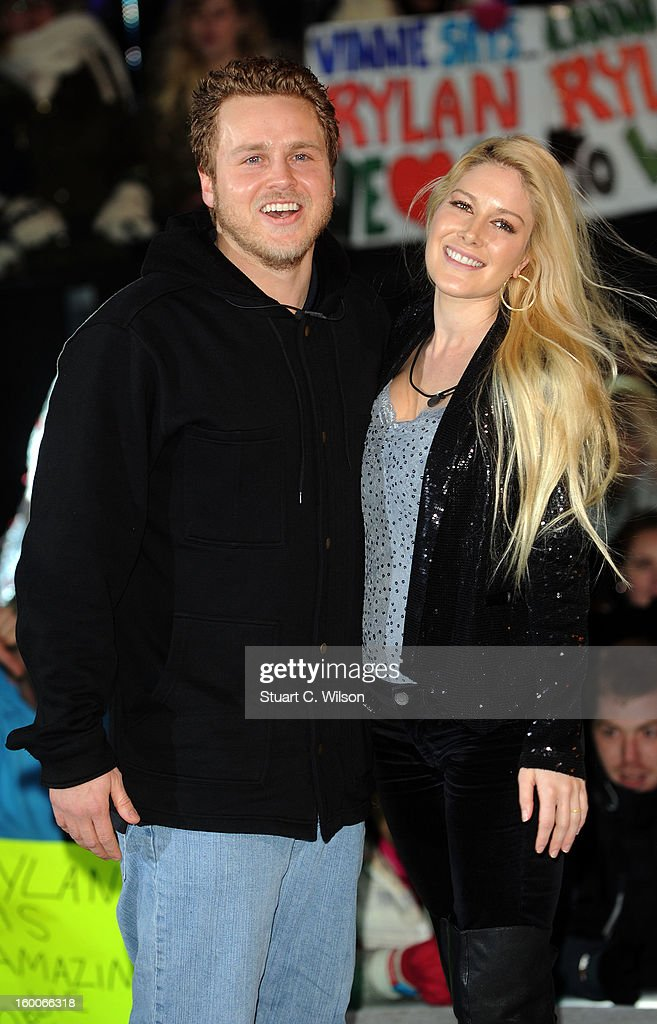 <a gi-track='captionPersonalityLinkClicked' href=/galleries/search?phrase=Spencer+Pratt&family=editorial&specificpeople=3963476 ng-click='$event.stopPropagation()'>Spencer Pratt</a> and <a gi-track='captionPersonalityLinkClicked' href=/galleries/search?phrase=Heidi+Montag&family=editorial&specificpeople=761509 ng-click='$event.stopPropagation()'>Heidi Montag</a> are evicted from the Celebrity Big Brother House at Elstree Studios on January 25, 2013 in Borehamwood, England.