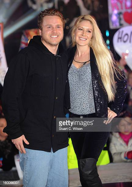 Spencer Pratt and Heidi Montag are evicted from the Celebrity Big Brother House at Elstree Studios on January 25 2013 in Borehamwood England
