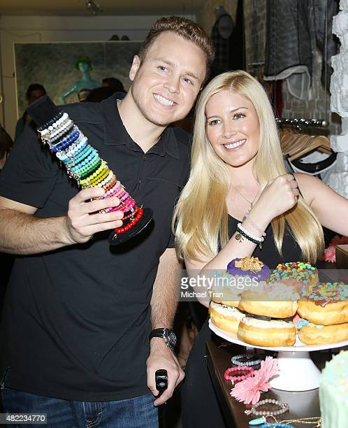 Spencer Pratt and Heidi Montag attend the US launch of MeMe London held at DiLascia on July 28 2015 in Los Angeles California
