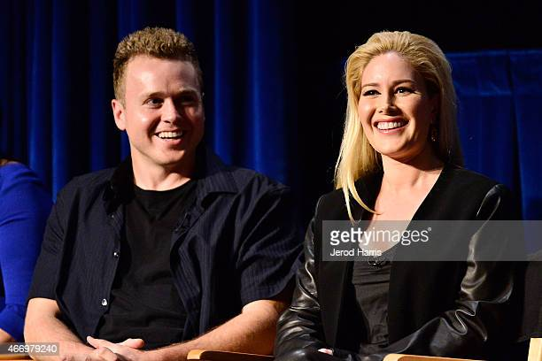 Spencer Pratt and Heidi Montag attend WE Tv Presents The Evolution of Relationship Reality Shows at The Paley Center For Media on March 19 2015 in...