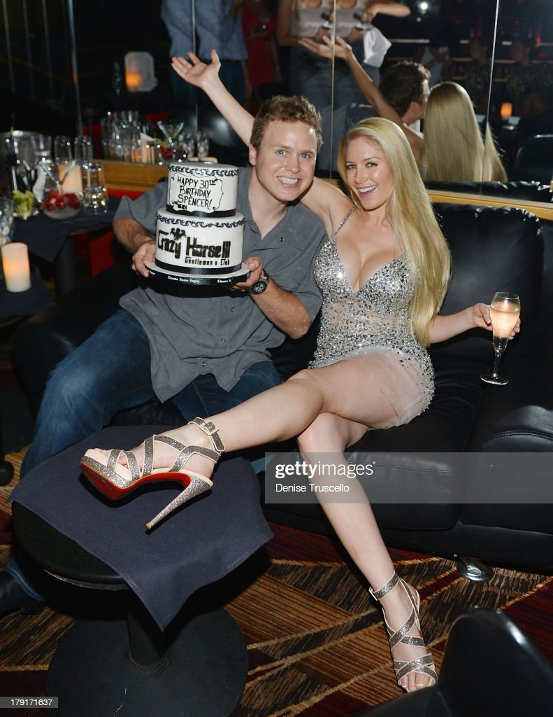 <a gi-track='captionPersonalityLinkClicked' href=/galleries/search?phrase=Spencer+Pratt&family=editorial&specificpeople=3963476 ng-click='$event.stopPropagation()'>Spencer Pratt</a> and <a gi-track='captionPersonalityLinkClicked' href=/galleries/search?phrase=Heidi+Montag&family=editorial&specificpeople=761509 ng-click='$event.stopPropagation()'>Heidi Montag</a> celebrate <a gi-track='captionPersonalityLinkClicked' href=/galleries/search?phrase=Spencer+Pratt&family=editorial&specificpeople=3963476 ng-click='$event.stopPropagation()'>Spencer Pratt</a>'s 30th birthday at Crazy House III on August 31, 2013 in Las Vegas, Nevada.