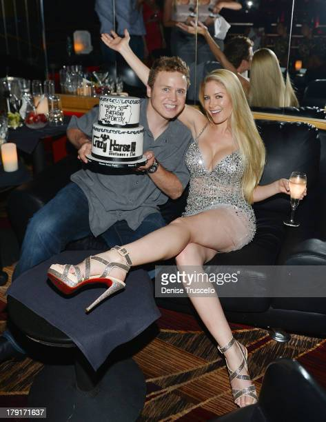 Spencer Pratt and Heidi Montag celebrate Spencer Pratt's 30th birthday at Crazy House III on August 31 2013 in Las Vegas Nevada