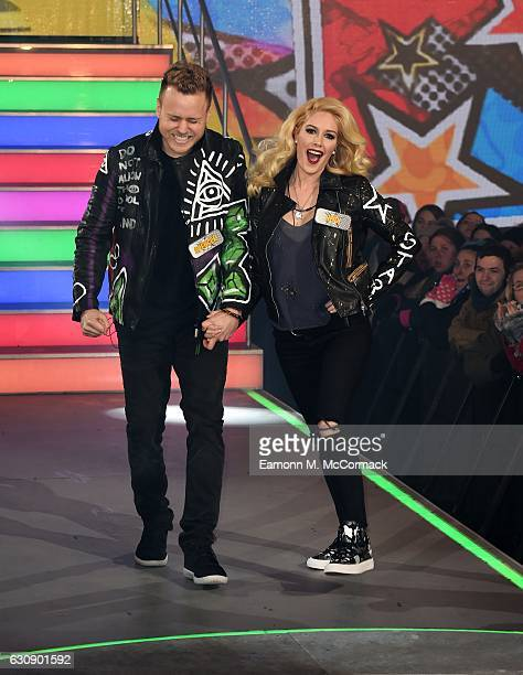 Spencer Pratt and Heidi Montag enter the Celebrity Big Brother House at Elstree Studios on January 3 2017 in Borehamwood England