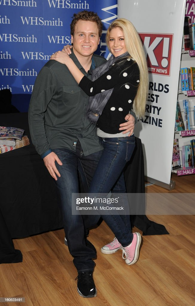 Spencer Pratt and Heidi Montag meet fans and sign copies of OK Magazine at Brent Cross Shopping Centre on February 2 2013 in London England