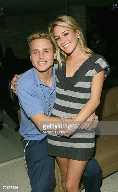 Spencer Pratt and reality star Heidi Montag attend the kick off party for MTV's reality show 'Twentyfourseven' at Area on November 29 2006 in Los...