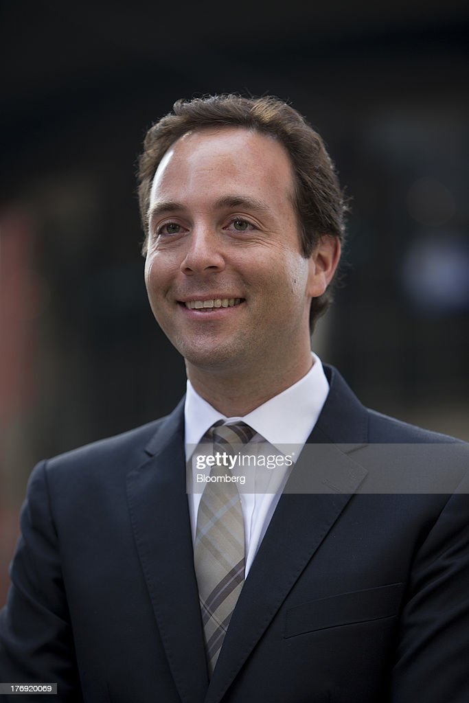 Spencer Rascoff, chief executive officer of Zillow Inc., stands for a photograph in front of the Nasdaq MarketSite in New York, U.S., on Monday, Aug. 19, 2013. Zillow Inc., operator of the largest U.S. real-estate website, agreed to acquire StreetEasy for $50 million in cash to expand its coverage of the New York market. Photographer: Scott Eells/Bloomberg via Getty Images