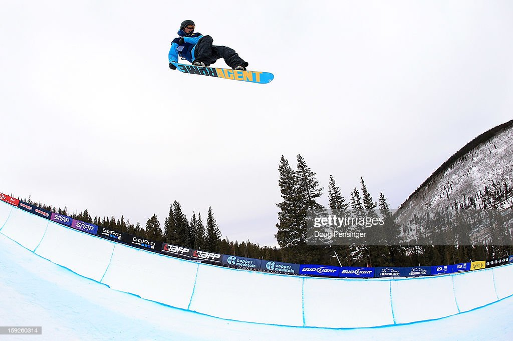 Spencer Shaw of the USA competes during qualification for the men's FIS Snowboard Halfpipe World Cup at the US Grand Prix on January 10, 2013 in Copper Mountain, Colorado.