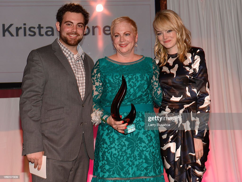 Spencer Stone, Krista Stone, and <a gi-track='captionPersonalityLinkClicked' href=/galleries/search?phrase=Emma+Stone&family=editorial&specificpeople=672023 ng-click='$event.stopPropagation()'>Emma Stone</a> attend the 2013 Peace, Love & A Cure Triple Negative Breast Cancer Foundation Benefit on May 21, 2013 in Cresskill, New Jersey.
