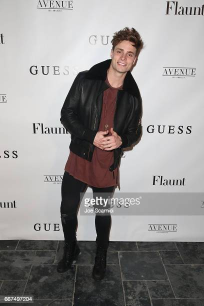 Spencer Sutherland arrives at the Flaunt and Guess celebration of the Alternative Facts Issue hosted by Joe Jonas and DNCE at Avenue on April 11 2017...