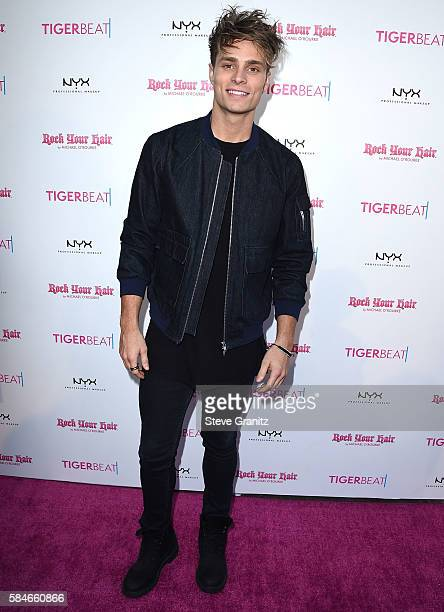 Spencer Sutherland arrives at the Tiger Beat's PreParty Around FOX's Teen Choice Awards at HYDE Sunset Kitchen Cocktails on July 28 2016 in West...