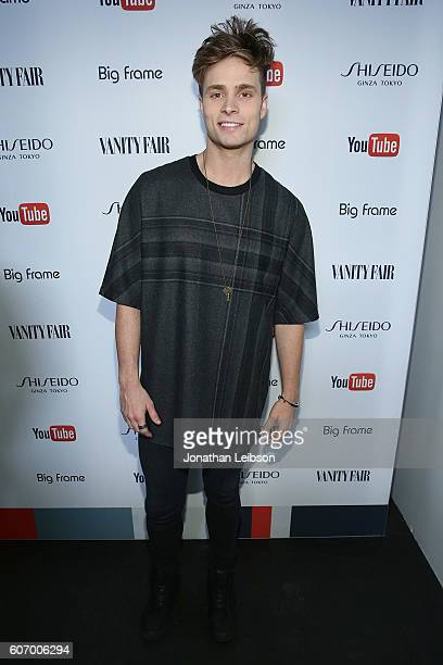 Spencer Sutherland attends the Vanity Fair Celebrates Emmy Weekend with YouTube And Shiseido At Vanity Fair Social Club at PLATFORM on September 16...