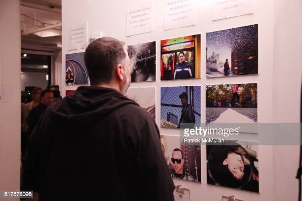 Spencer Tunick attends SLIDE LUCK Auction Fundraiser Hosted By Patrick McMullan DJ Spooky at Sandbox Studio on December 8 2010 in New York