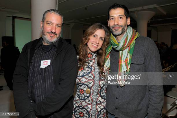 Spencer Tunick Kristin Tunick and Javier Pinon attend SLIDELUCK Auction and Fundraiser Hosted by DJ SPOOKY and PATRICK MCMULLAN at Sandbox Studio on...