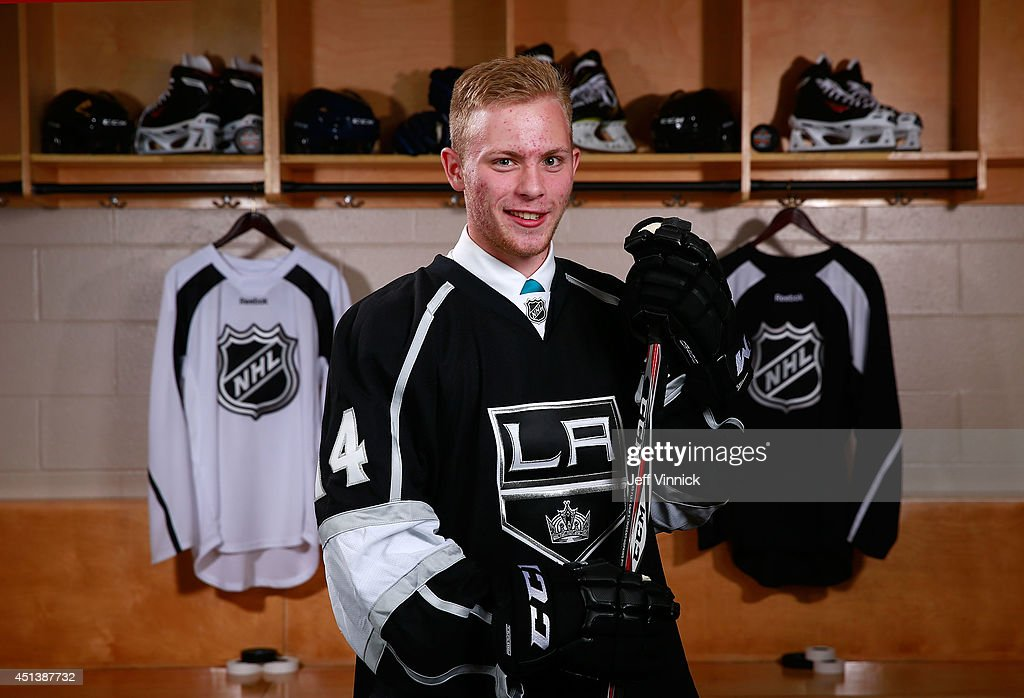 Spencer Watson, 209th overall pick of the Los Angeles Kings, poses for a portrait during the 2014 NHL Entry Draft at Wells Fargo Center on June 28, 2014 in Philadelphia, Pennsylvania.