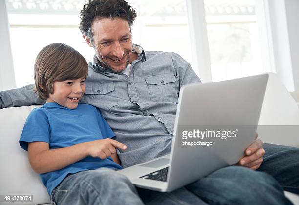 Spending an afternoon online with dad