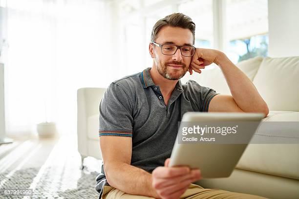 Spending his saturday online