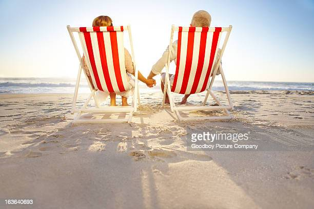 Passer leur retraite se détendre ensemble