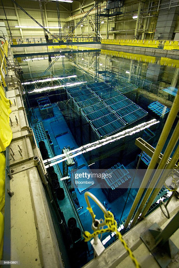 450000 spent uranium fuel rods collected over 30 years of operation are stored under water after powering a reactor at the Bruce B nuclear power...