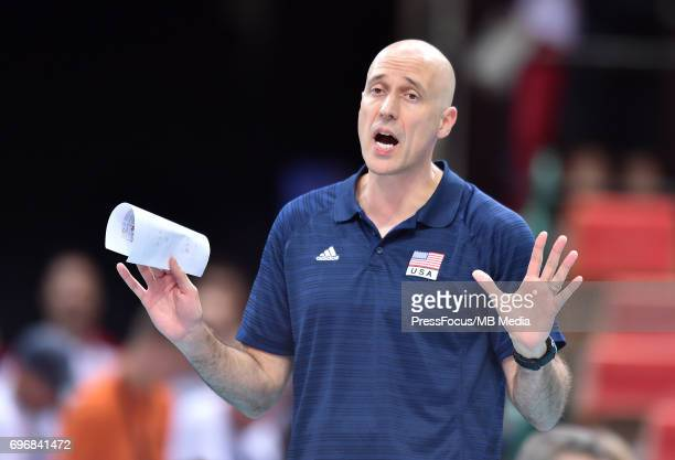 Speraw John head coach during the FIVB World League 2017 match between Iran and USA at Arena Spodek on June 15 2017 in Katowice Poland
