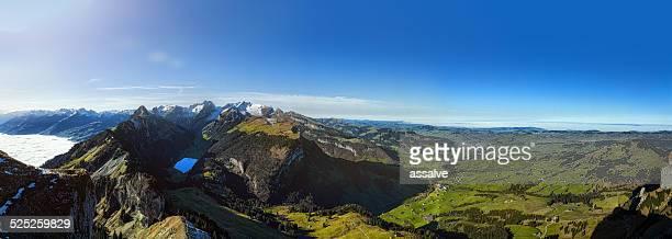 Spectacular Blick über Alpstein und Appenzellerland in der Schweiz