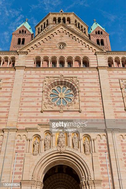 Speyer Cathedral, west wing, facade, Unesco World Heritage, Speyer, Palatinate region, Rhineland-Palatinate, Germany, Europe