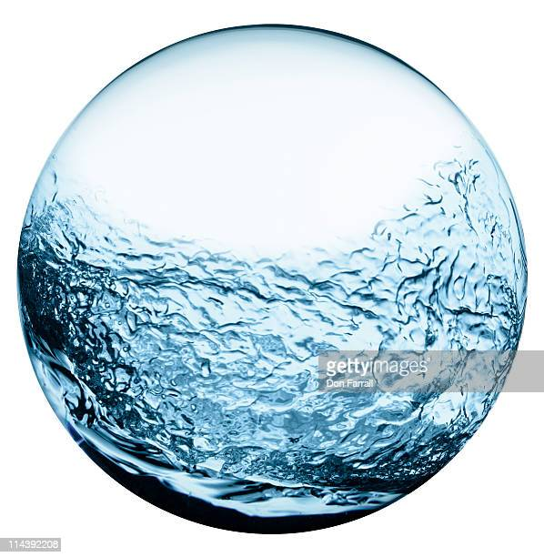 Sphere filled with water