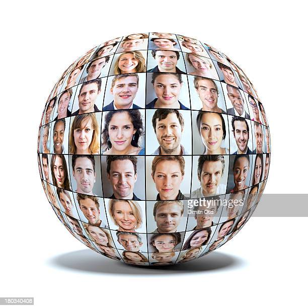 Sphere made up of many faces