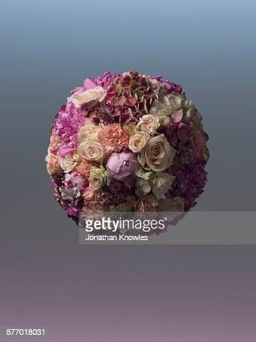 Sphere shaped floral arrangement